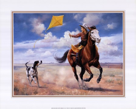 Flying a Kite with Friends by Jack Sorenson art print