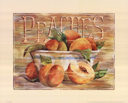 Fruit Stand Peaches by Jerianne Van Dijk art print